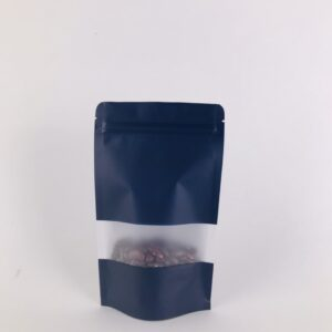 ถุงซิปล็อค ถุงกระดาษคราฟท์ ถุงคราฟท์ มีหน้าต่าง ตั้งได้ สีกรม 10×15 ซม. [50 ใบ]