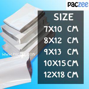 ซองซีล3ด้าน เนื้อเงา สีขาว (100ใบ/แพค)