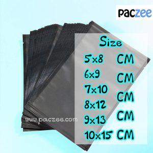 ซองซีล3ด้าน เนื้อด้าน สีดำ (100ใบ/แพค)