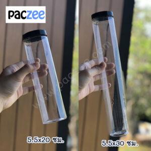 กระปุกพลาสติกใส PET กระปุกใส่น้ำพริก ฝาเกลียว #ฝาพลาสติกสีดำ